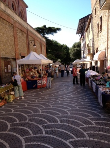 Stumbled upon this market in Passignano.