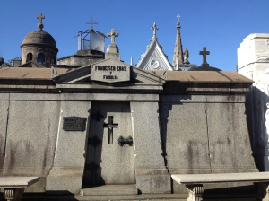 La Recoleta Cemetary. So spooky and so cool, it really was a city of the dead.