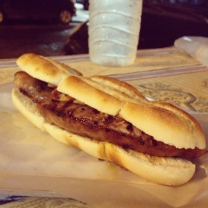 My first, but certainly not my last, choripan.